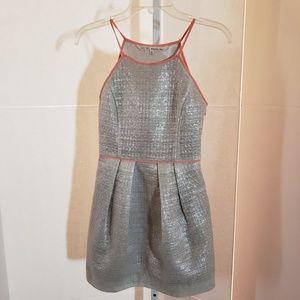 RACHEL Rachel Roy silver metallic dress sz XS